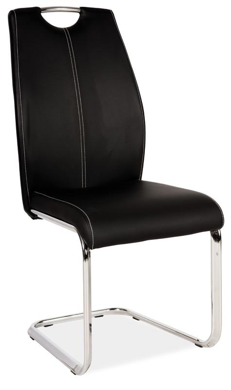 Jedálenská čalúnená stolička H-664 čierna