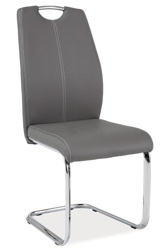 Jedálenská čalúnená stolička H-664 šedá