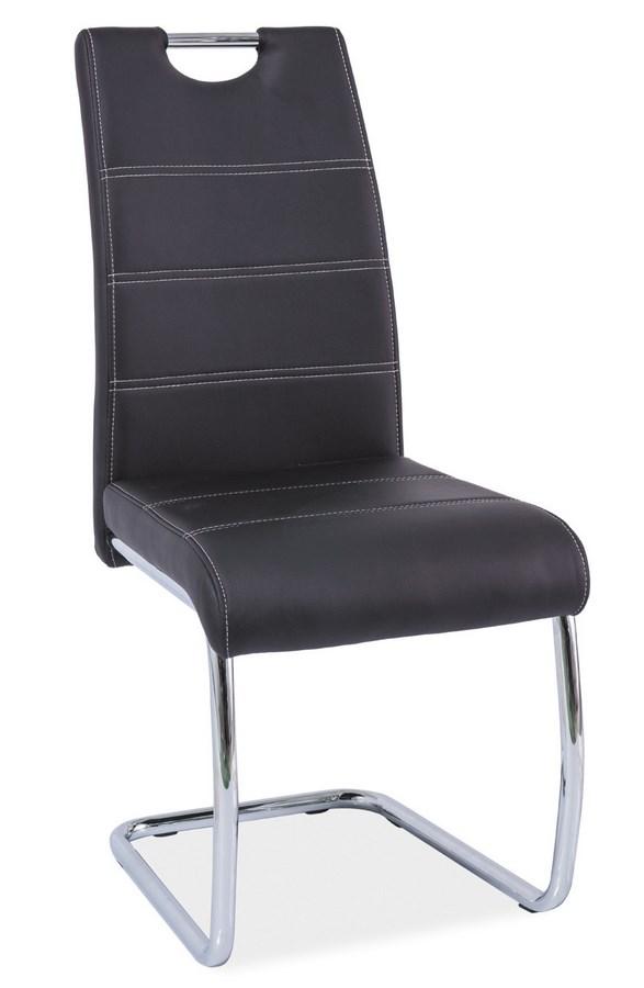 Jedálenská čalúnená stolička H-666 čierna