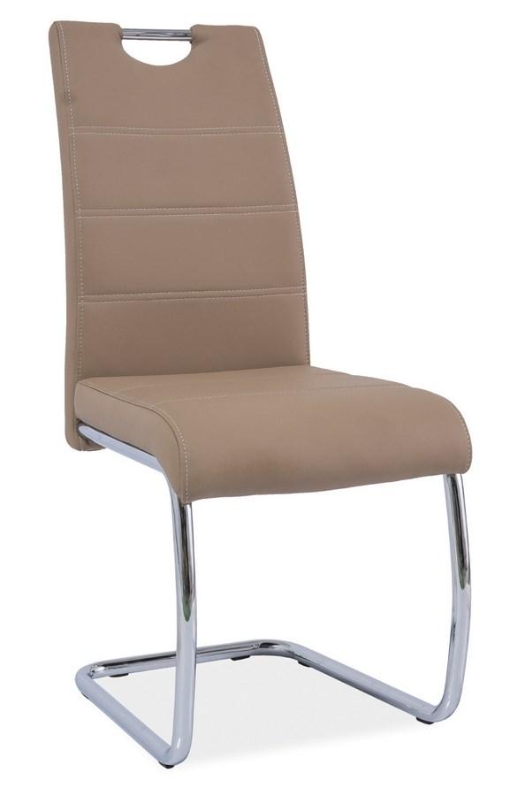 Jedálenská čalúnená stolička H-666 tmavo bežová