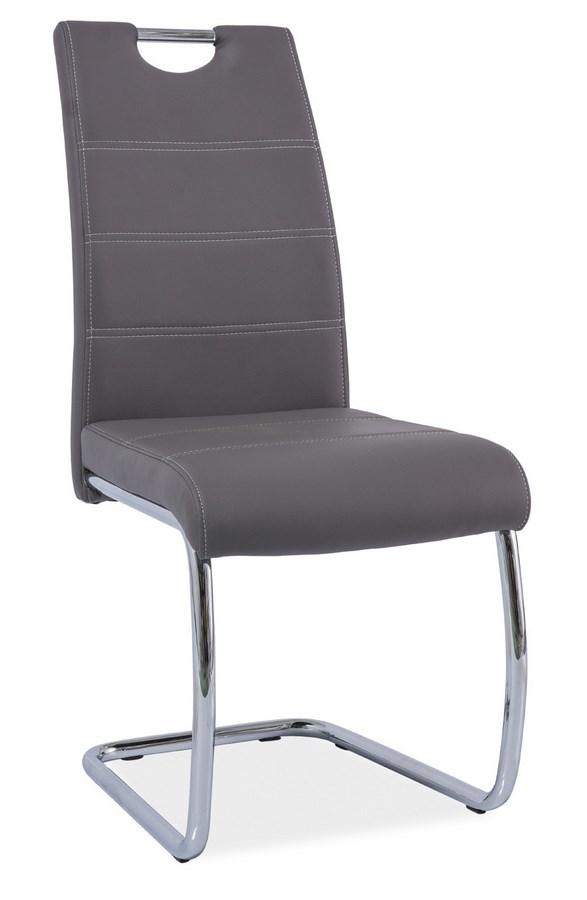 Jedálenská čalúnená stolička H-666 šedá