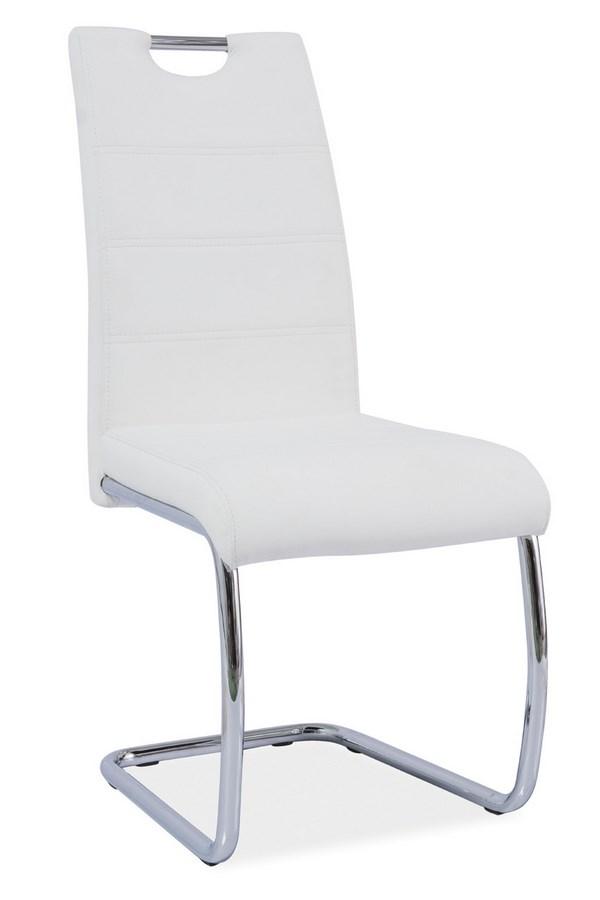 Jedálenská čalúnená stolička H-666 biela