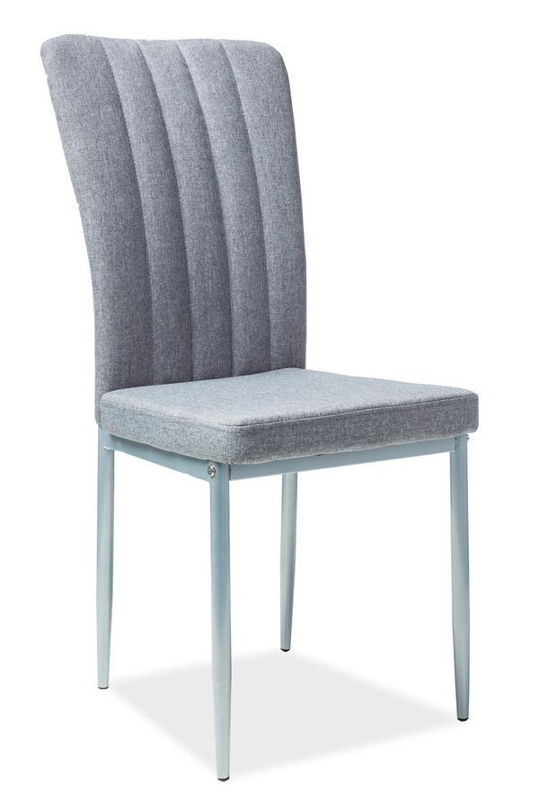 Jedálenská čalúnená stolička H-733 šedá/biela