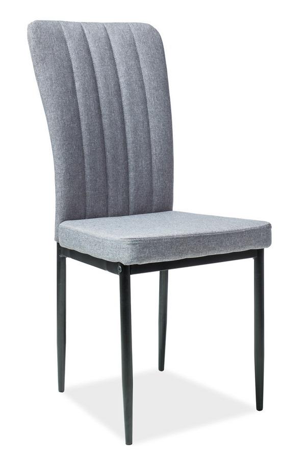 Jedálenská čalúnená stolička H-733 šedá/čierna