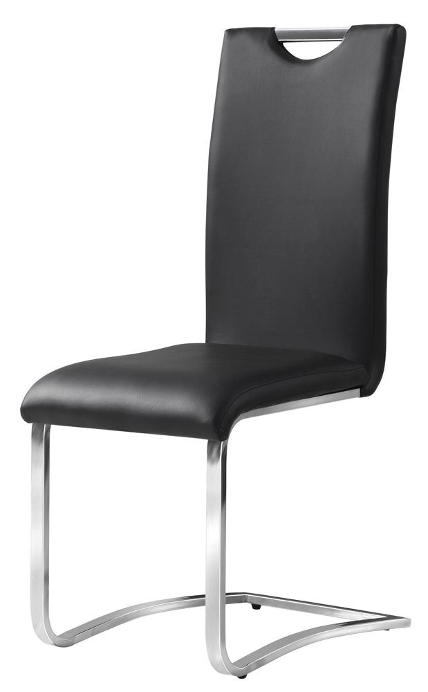 Jedálenská čalúnená stolička H-790 čierna