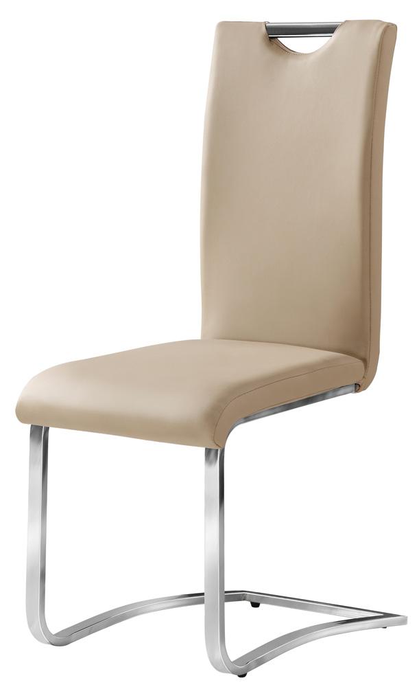Jedálenská čalúnená stolička H-790 tm. béžová