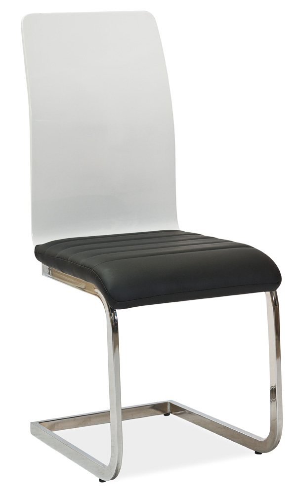 Jedálenská čalúnená stolička H-791 čierna/biela