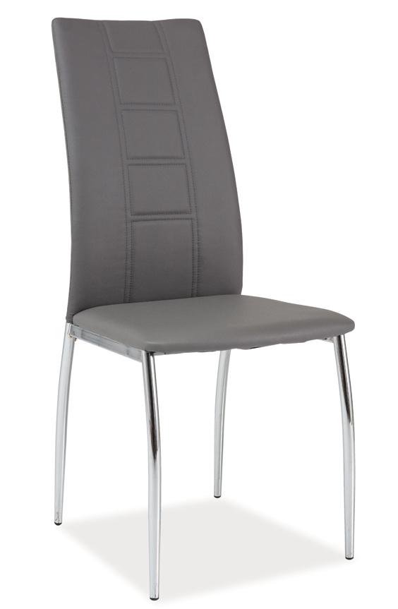 Jedálenská čalúnená stolička H-880 šedá