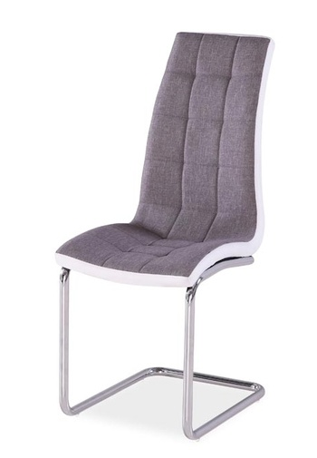 Jedálenská čalúnená stolička H-103 šedá/biela