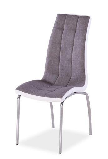 Jedálenská čalúnená stolička H-104 šedá/biela