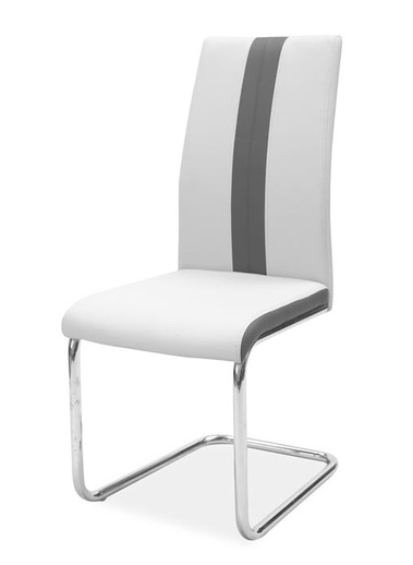 Jedálenská čalúnená stolička H-200 světlá šedá