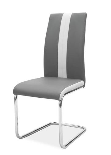 Jedálenská čalúnená stolička H-200 tmavá šedá