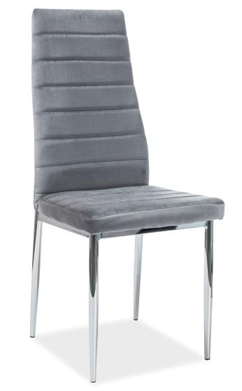 Jedálenská čalúnená stolička H-261 VELVET šedá