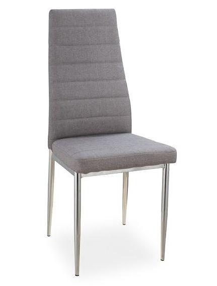 Jedálenská čalúnená stolička H-263 šedá
