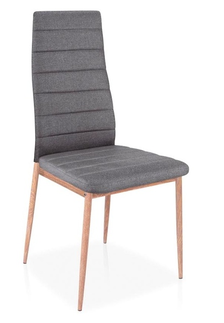 Jedálenská čalúnená stolička H-264 BIS šedá/dub