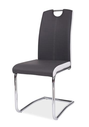 Jedálenská čalúnená stolička H-341 šedá/bílé boky