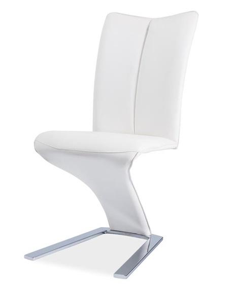 Jídelní čalouněná židle H-040 bílá