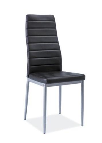 Jedálenská čalúnená stolička H-261 Bis černá/alu
