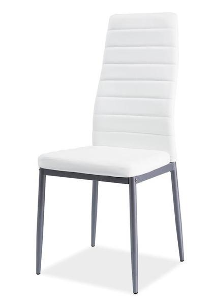 Jedálenská čalúnená stolička H-261 Bis biela/alu