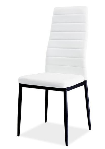 Jedálenská čalúnená stolička H-261 BIS C biela/černá