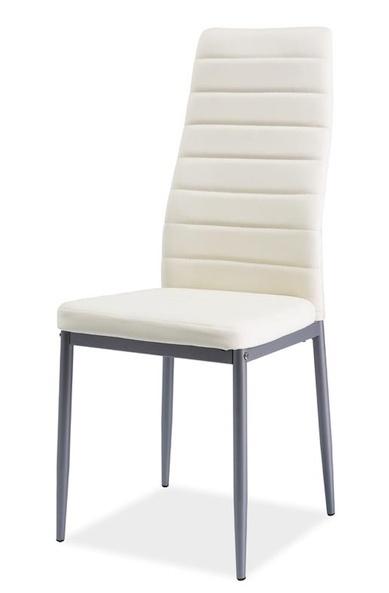 Jedálenská čalúnená stolička H-261 Bis krém/alu