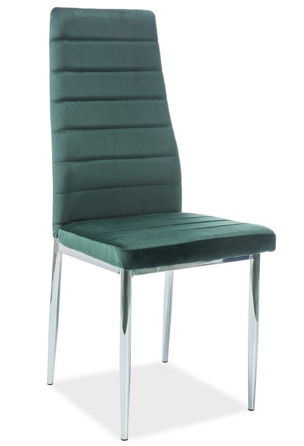 Jedálenská čalúnená stolička H-261 VELVET zelená