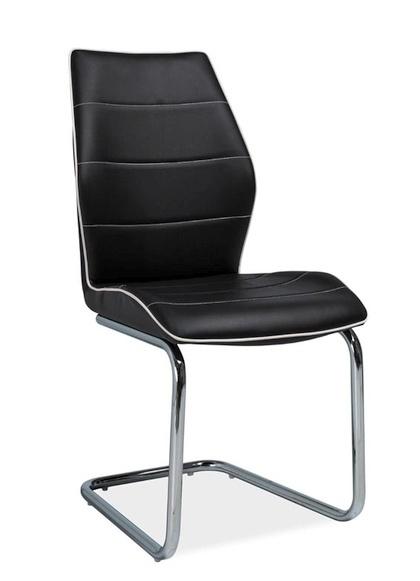 Jedálenská čalúnená stolička H-331 černá