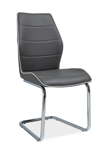 Jedálenská čalúnená stolička H-331 šedá