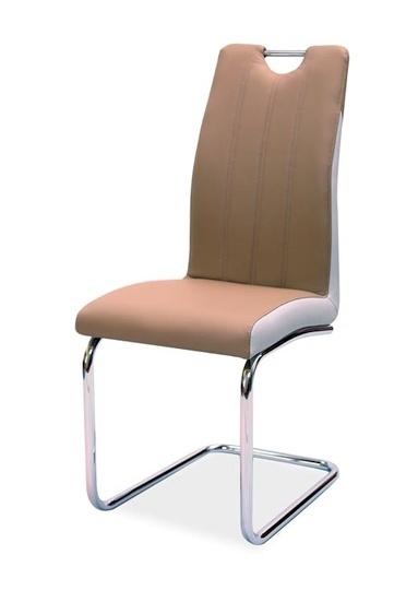 Jedálenská čalúnená stolička H-342 cappuccino/světlá šedá