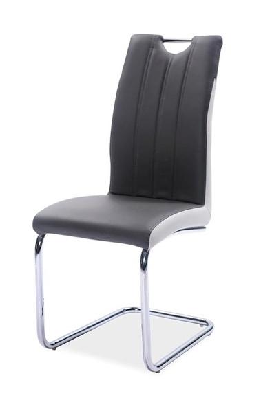 Jedálenská čalúnená stolička H-342 šedá/světlá šedá