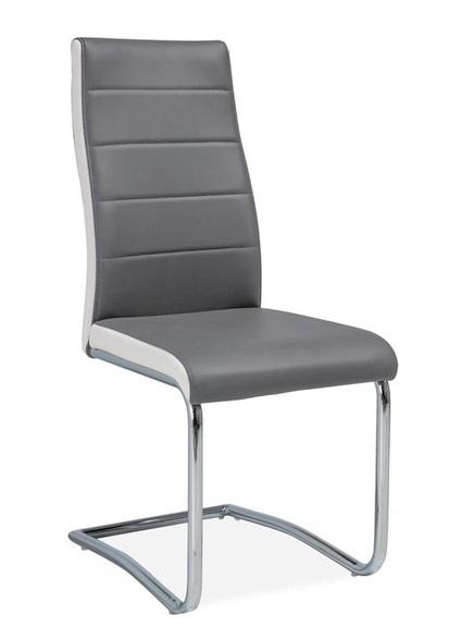 Jedálenská čalúnená stolička H-353 šedá/bílé boky