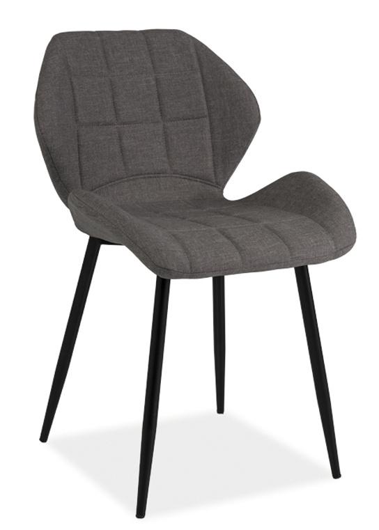 Jedálenská čalúnená stolička HALS šedá