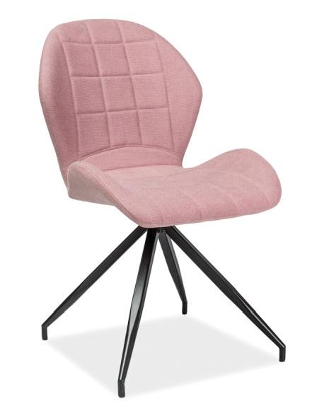 Jedálenská čalúnená stolička HALS II růžová