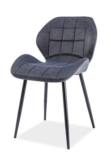 Jedálenská čalúnená stolička HALS grafit