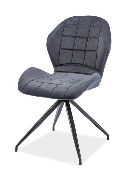 Jedálenská čalúnená stolička HALS II grafit