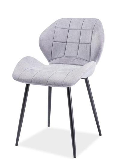 Jedálenská čalúnená stolička HALS světlá šedá