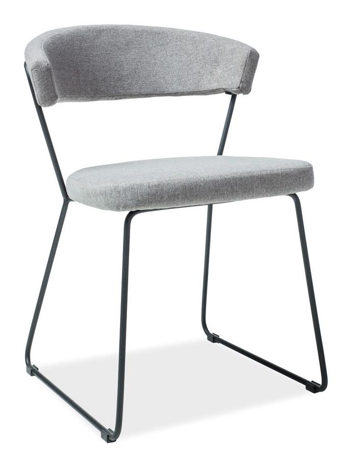 Jídelní čalouněná židle HELIX šedá