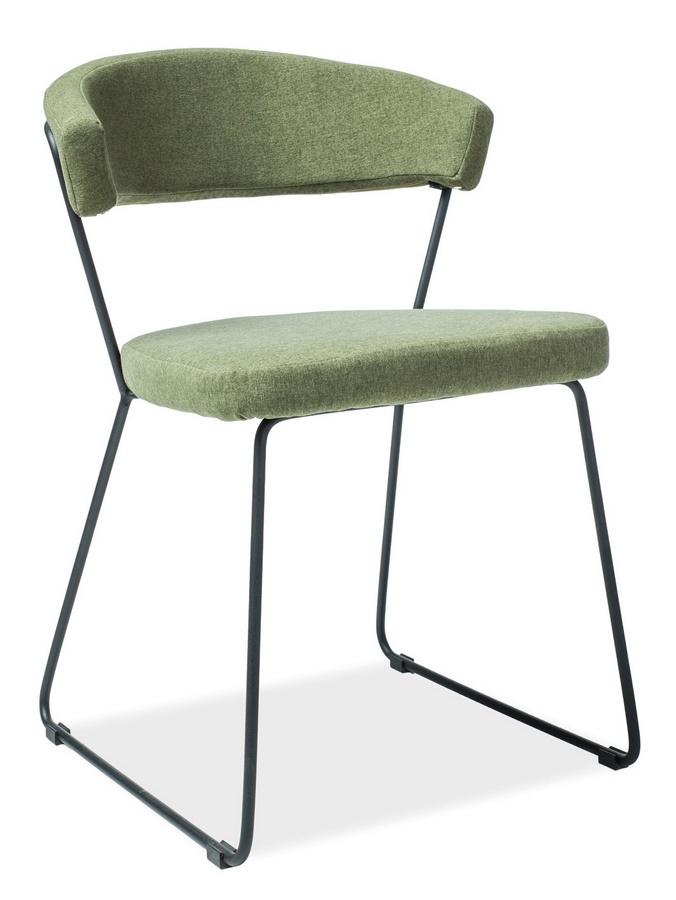 Jídelní čalouněná židle HELIX zelená