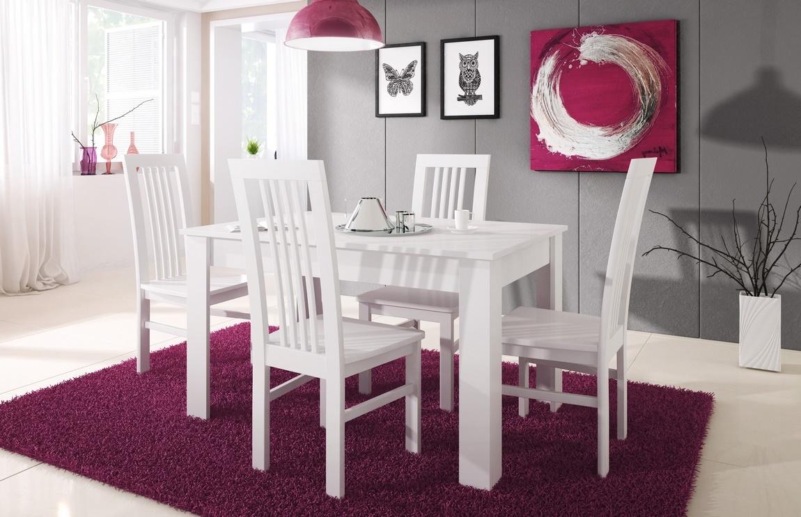 Rozkládací jedálenský stôl TIMON biela