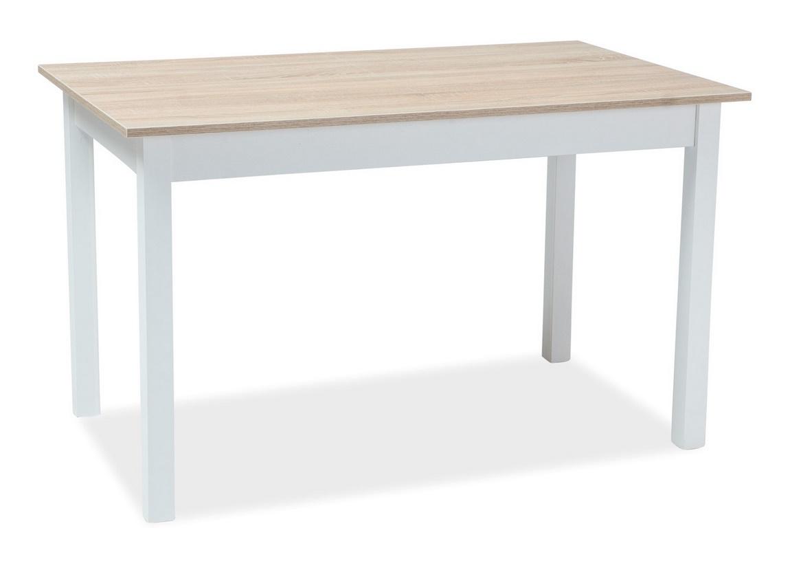 Jídelní stůl rozkládací HORACY 160x80 bílá/dub