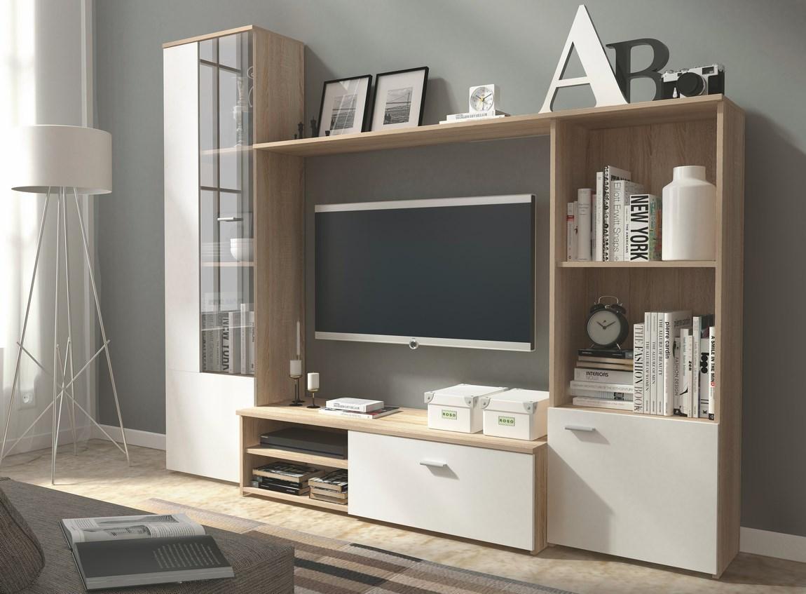 Obývacia stena HUGO sonoma/biela