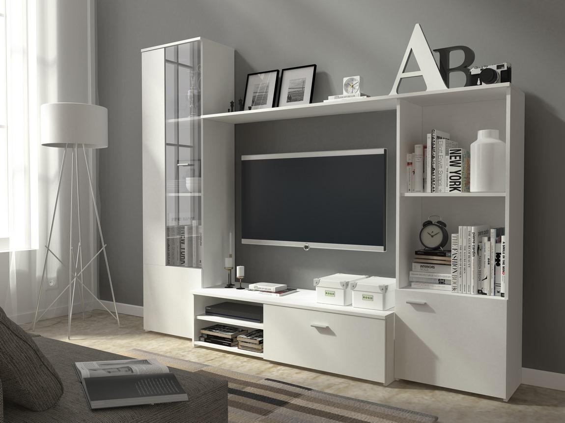 Obývacia stena HUGO biela