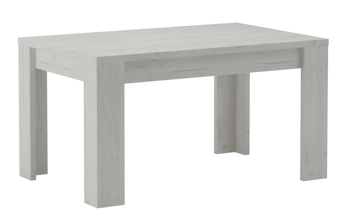 jedálenský stôl rozkládací KORA 120x80 jasan bílý