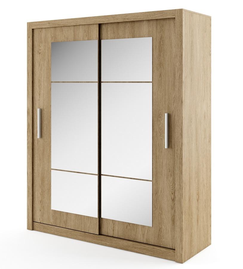 šatníková skriňa IDEA 02 shetland zrkadlo 180 cm