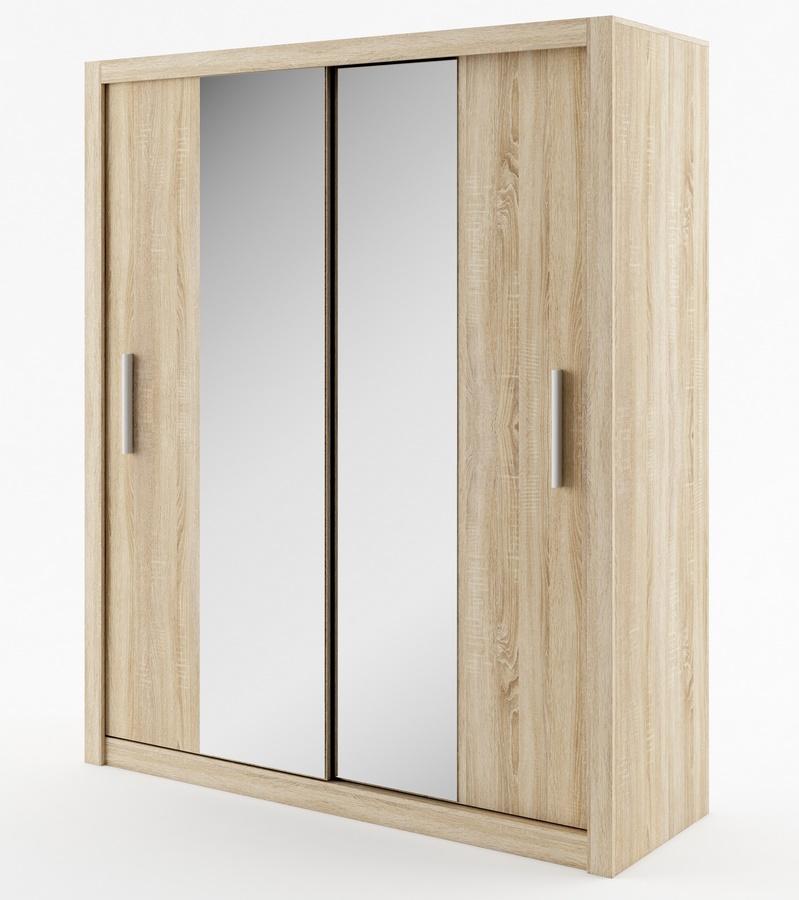 šatníková skriňa IDEA 03 sonoma zrkadlo 180 cm