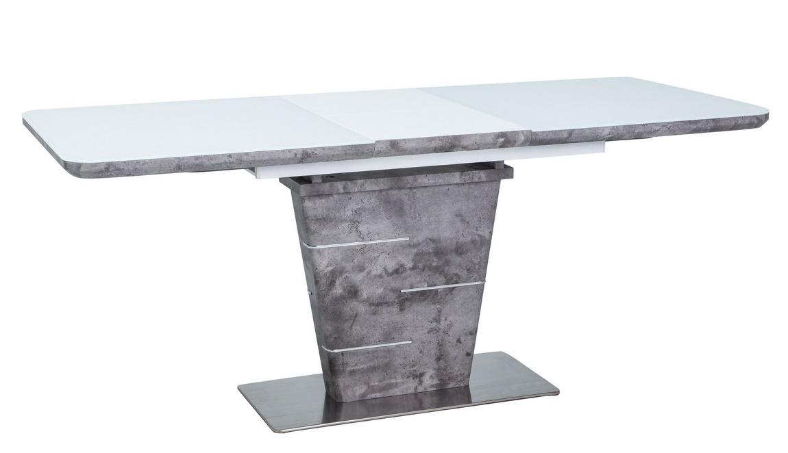 Jedálenský stôl ILARIO biely lak/efekt betonu