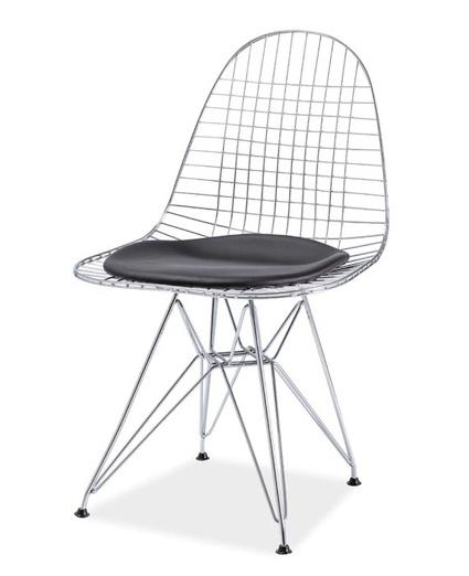 Jedálenská stolička INTEL I chrom/čierna