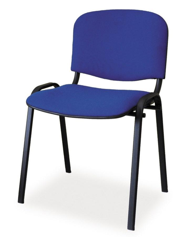 Čalunená Stolička ISO čierna/modrá