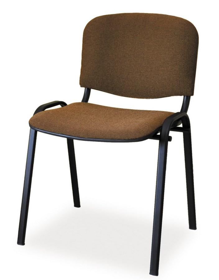 Čalunená Stolička ISO čierna/hnedá
