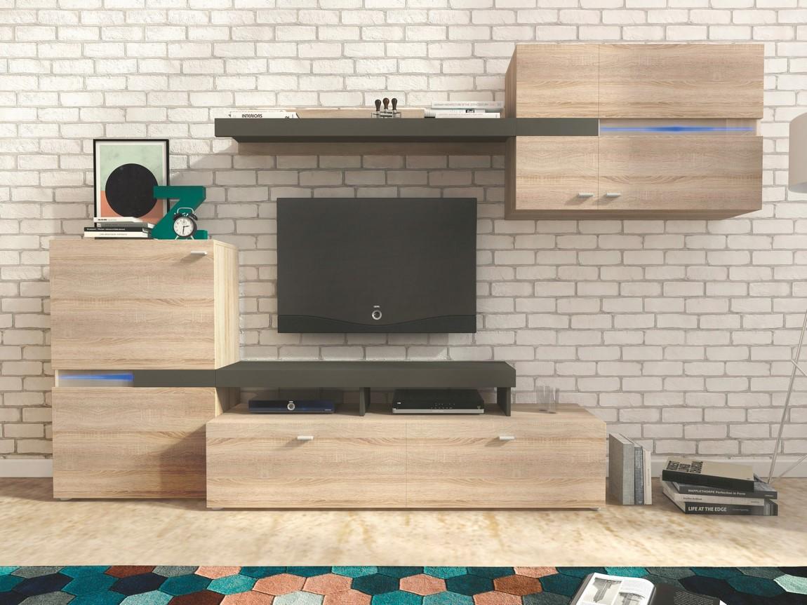 Obývacia stena JET sonoma/grafit
